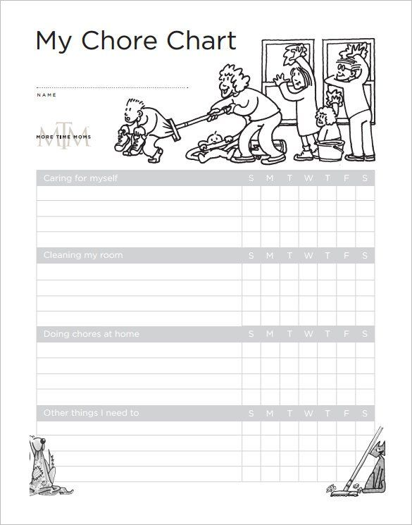 Weekly Chore Chart for Kids Free Downlaod , How to Make Good - chore list template