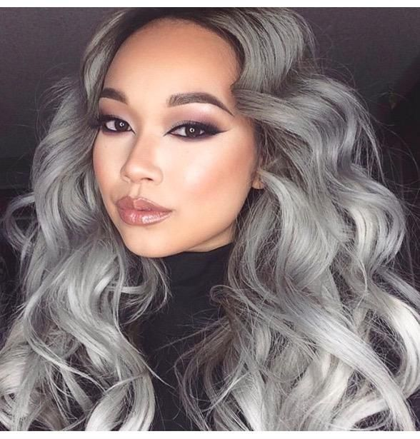 Granny Hair Grey Gray Dyeing Dying Trend Young Women Girls Teenagers