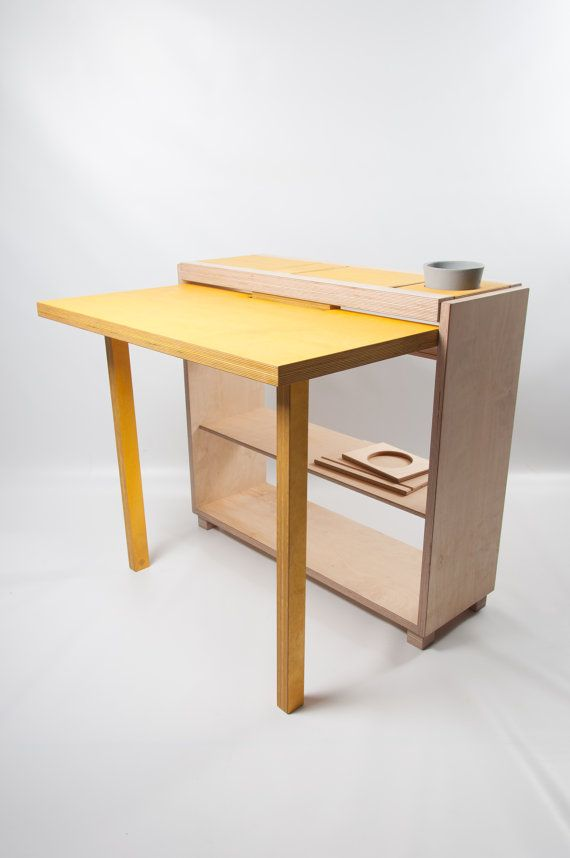 The Bee9 Tablet Desk 2.0 / Drop Leaf Folding by bee9designshop