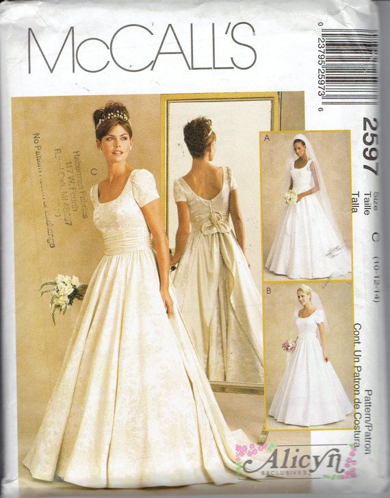 Alicyn Bridal Gown Wedding Dress Pattern McCalls 2597: Scoop ...