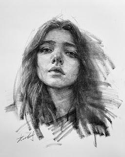 24 رسمة جميلة بالفحم للفنان كيسو تشاي مدونة رسم بالرصاص Charcoal Portraits Portrait Drawing Portrait