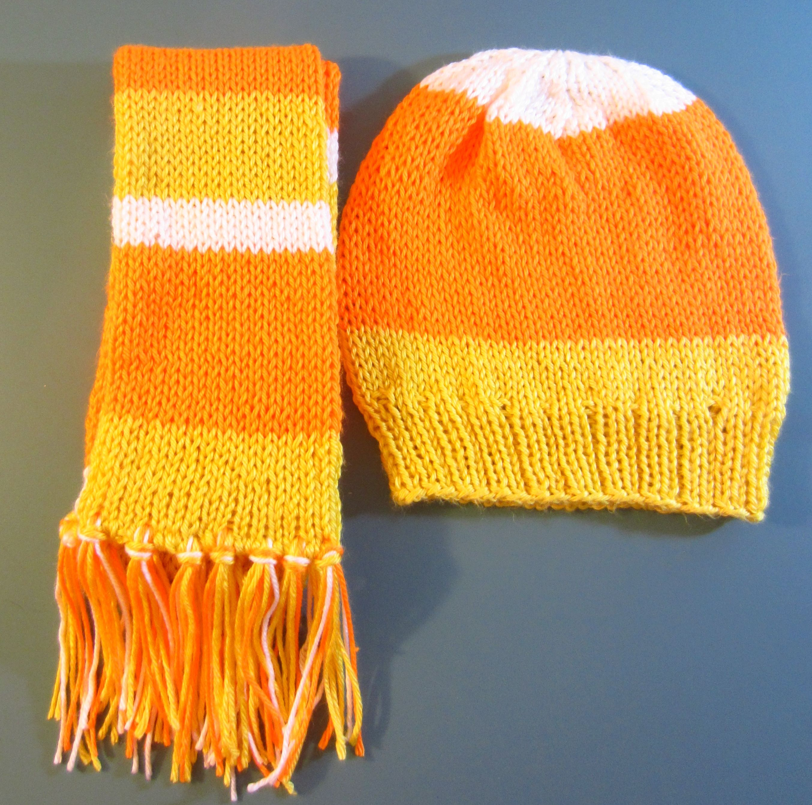 Candy Corn Hat and Scarf