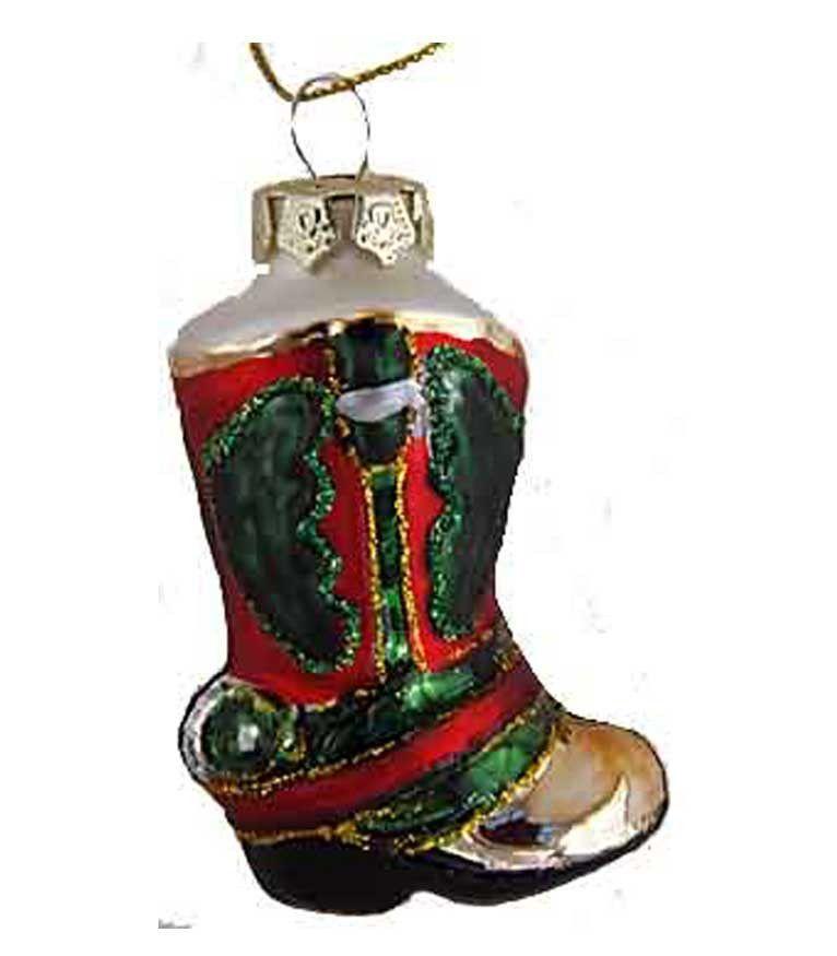 Cowboy Snowman Glass Christmas Ornament Glass Christmas Ornaments
