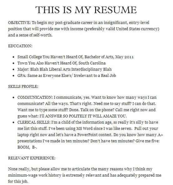 Make My Resume Glamorous Some Of The Best Job Resumes Of All Timethese Make My Resumes