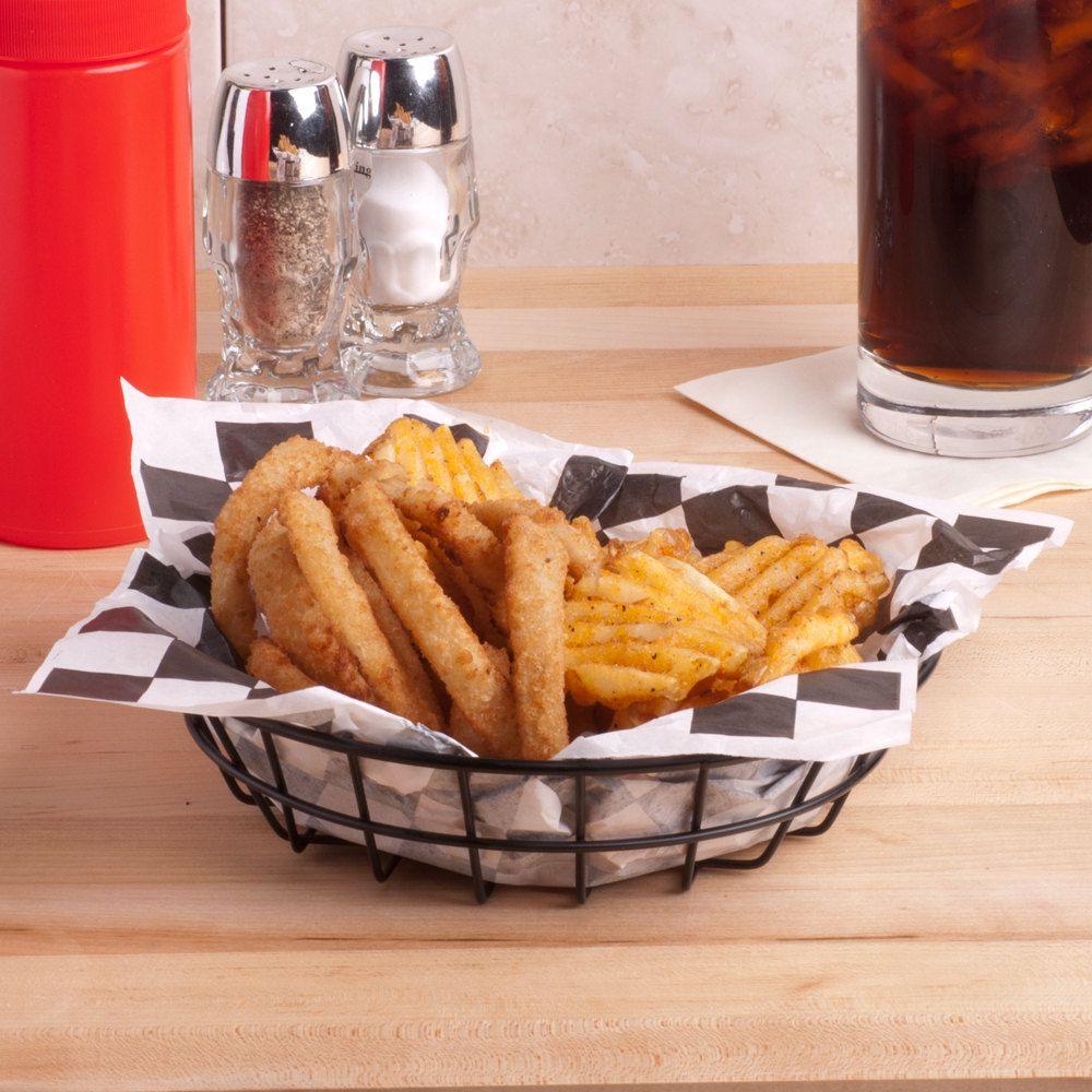 American Metalcraft Wib80 Black Round Wire Basket 8 X 2 Serving Baskets Food Food Basket