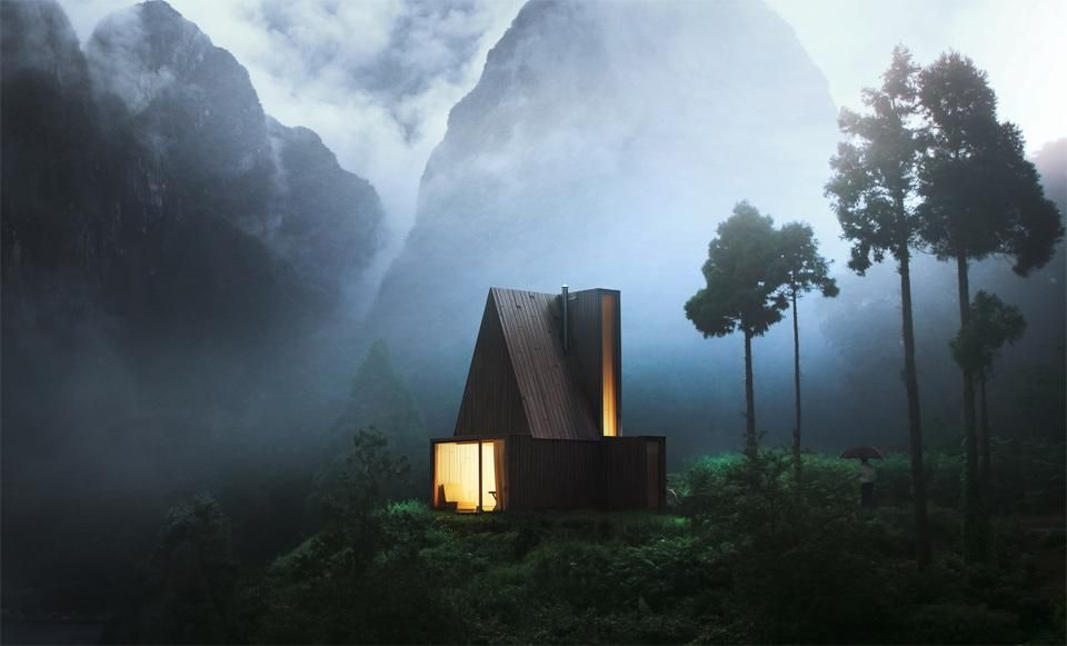 Amazing my whish list, perfect for a caple in love, our for me lol Modern Cabin In The Woods blogueira on Line