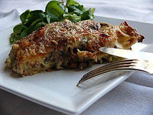 lasagnes et salade