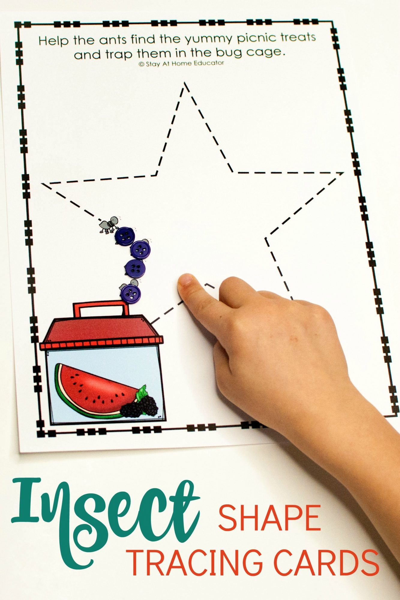 Free Printable Prewriting Practice For An Insect Theme