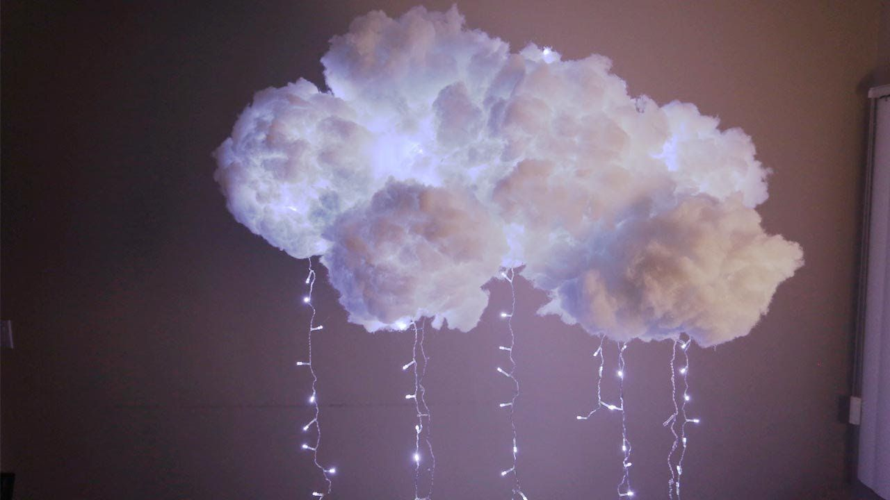 DIY Cloud Light Diy clouds, Diy cloud light, Cloud lamp diy
