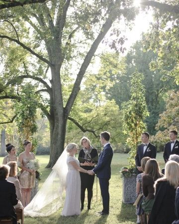 """The Ceremony: The couple wrote their own vows separately and then went on their """"last single date together"""" and combined them to create what they recited to one another on the big day. LOVE that idea."""