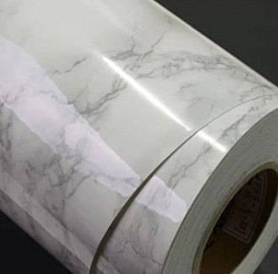 Instant Peel and Stick Self Adhesive Countertop White Marble Waterproof Film for Kitchen Counters Backsplash Not Contact Paper or Paint!!