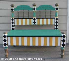 The Next Fifty Years Headboard To Funky Bench Makeover Old