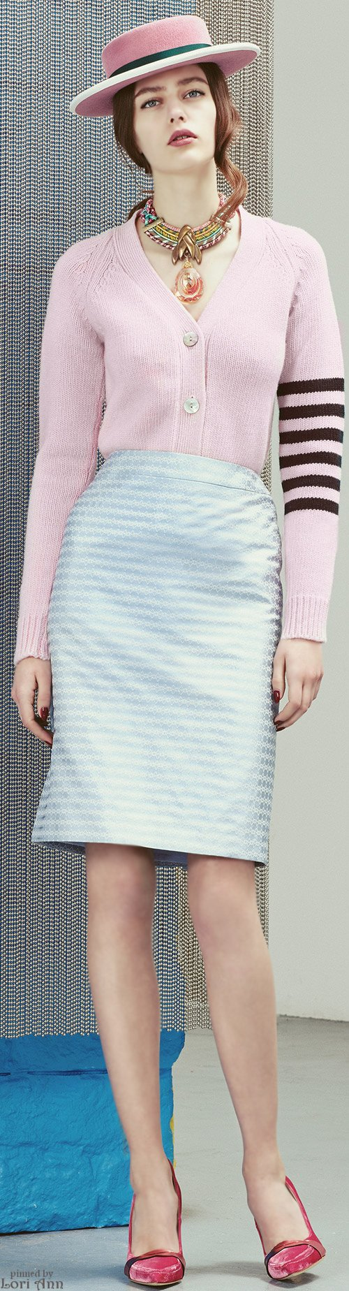 Alexander Lewis Pre-Fall 2015 women fashion outfit clothing style apparel @roressclothes closet ideas