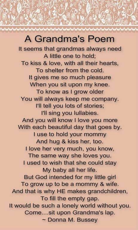 Grandma Poems From Grandchildren 1