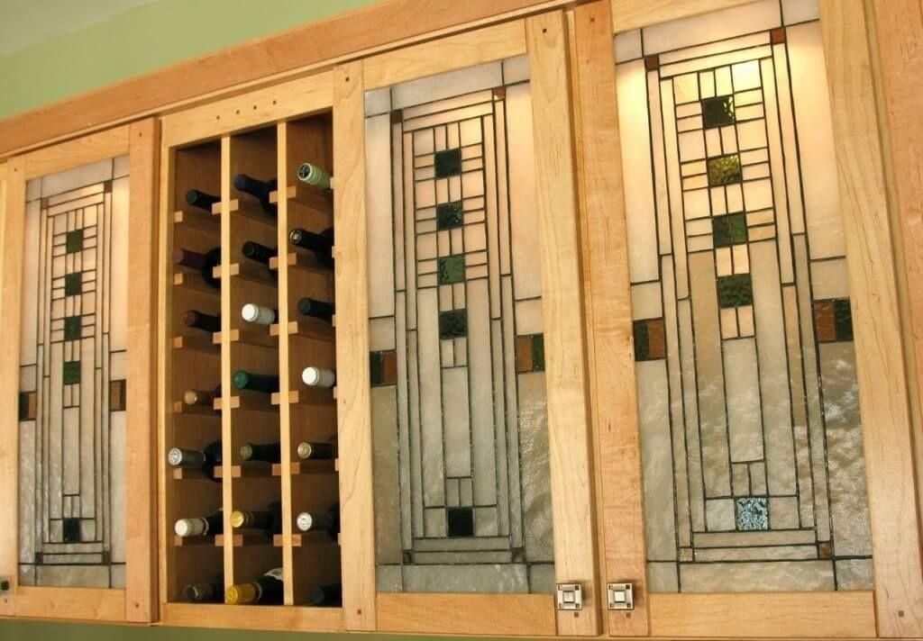 Popular Leaded Glass Cabinet Doors Decor