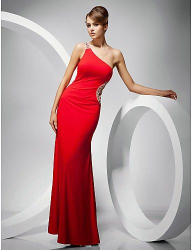a5b9aa4fbaa0 Vestido rojo hombro lateral @ Vestidos de Fiesta Baratos | GALAS ...