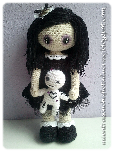 Amigurumi Crochet Gothic Doll With Voodoo Toy Amigurumi Crochet