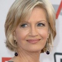 Diane Sawyer Hairstyles: Layered Medium Bob Hairstyle for Older ...