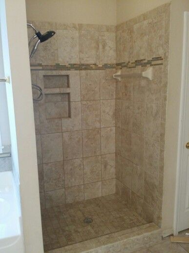 Superior Replaced Plastic Shower Insert With Tile