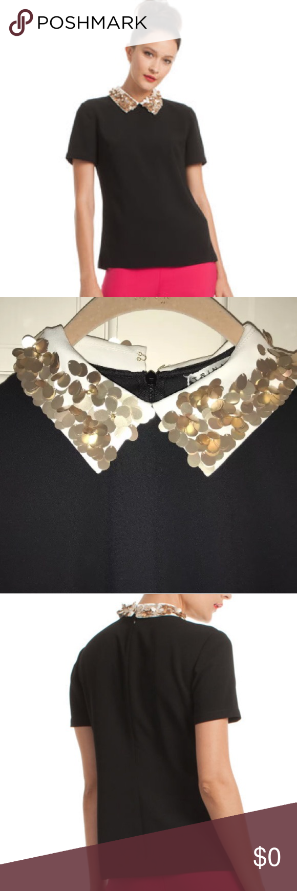 137fba0b9793aa Trina Turk Amaranth An embellished collar with take your style far this  season. With sparkly