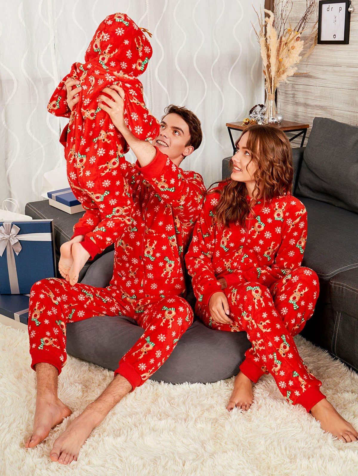 Rudolph Onesie Christmas Matching Family Pajama Ad ,