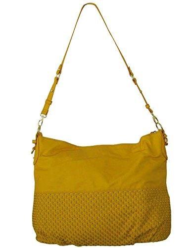 c9392517d86 Steve Madden Women's 'Bweaved' Woven Pin Dot Purse, Yellow ...