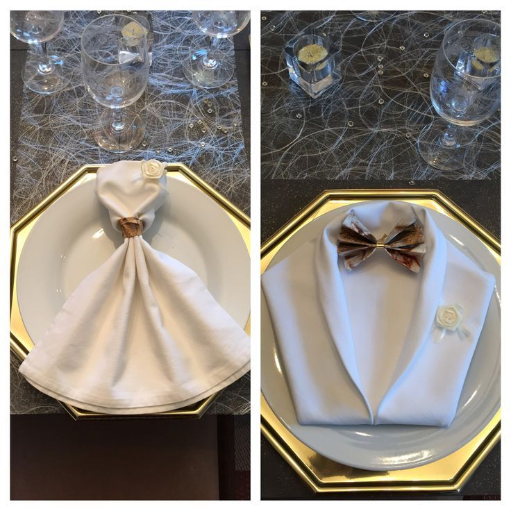 how to fold napkins with rings and silverware