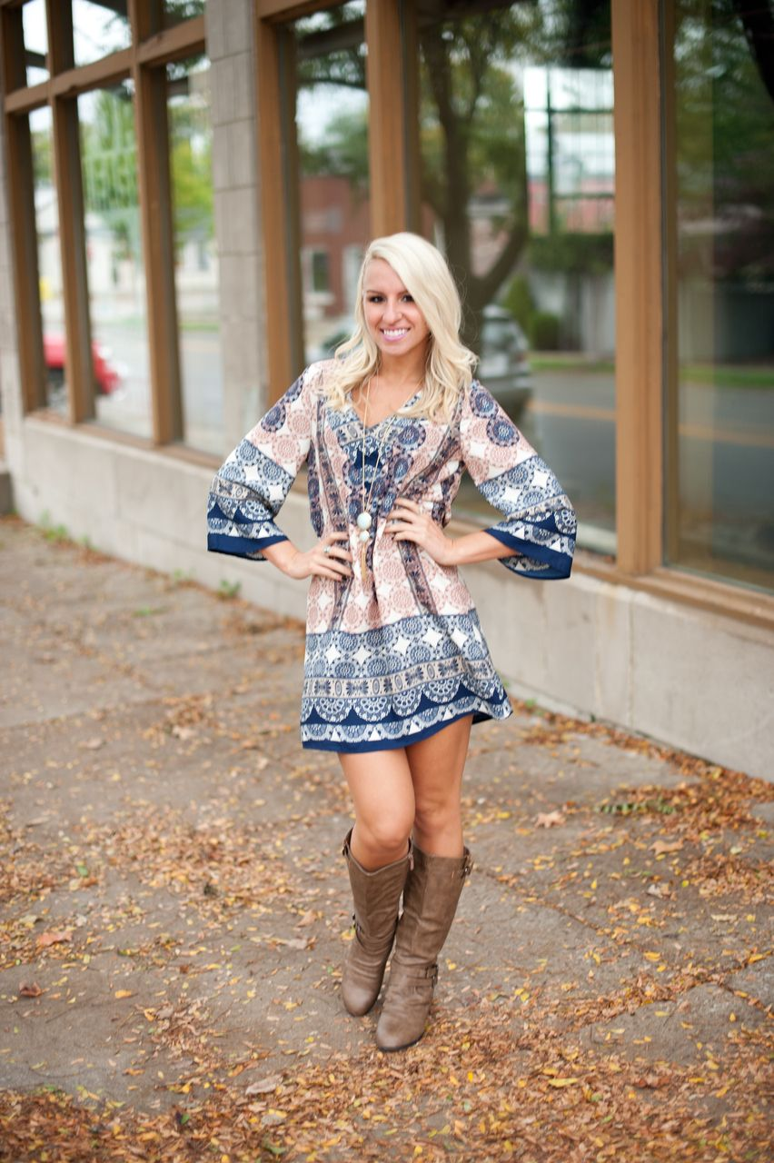 There S No Limit Tunic Dress Fashion Country Outfits Dresses With Cowboy Boots [ 1280 x 852 Pixel ]
