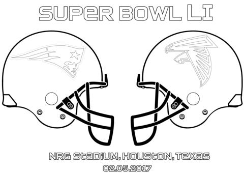 Super Bowl Li New England Patriots Vs Atlanta Falcons Coloring Page From Nfl Category Select From 2 Football Coloring Pages Denver Broncos Colors Super Bowl