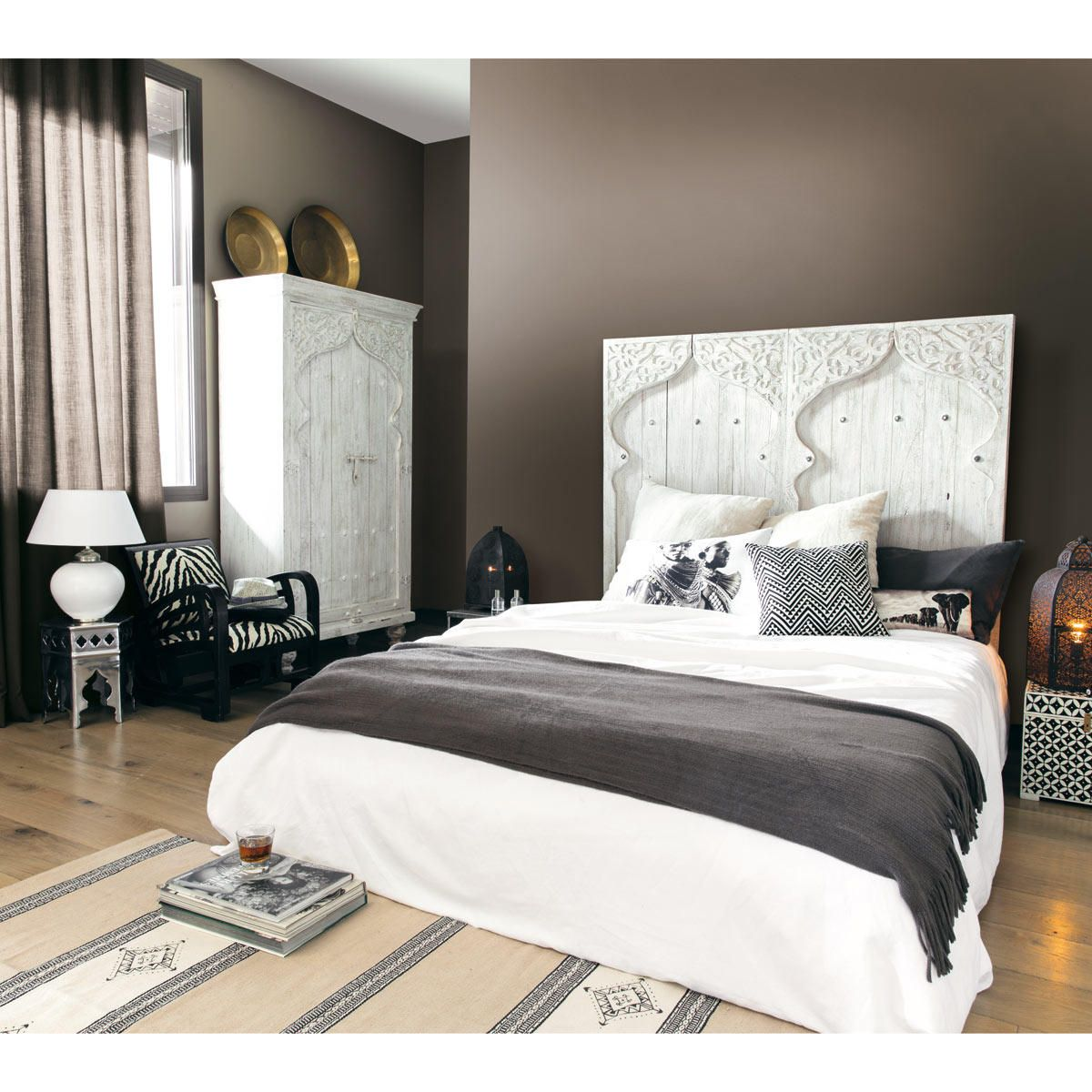Armoire en manguier blanche L 102 cm | White wardrobe, Bedrooms and ...