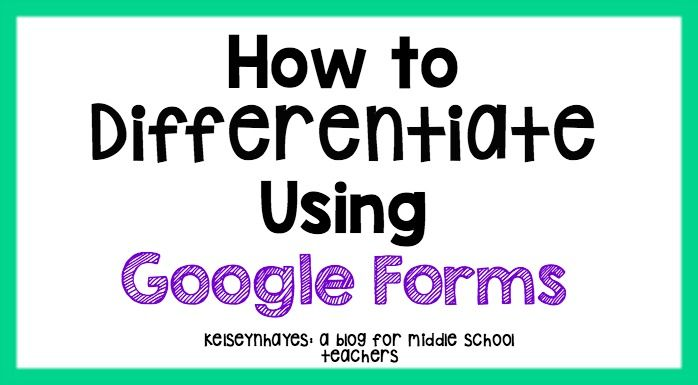How to Differentiate Instruction with Google Forms is part of Differentiated instruction, Google forms, Differentiation, Teacher skill, Teacher's blog, Teaching technology - Hey y'all! I hope everyone is having a great summer so far! When I first started this blog, I was just looking for a way to put my teaching ideas into one place and if I helped someone else, or