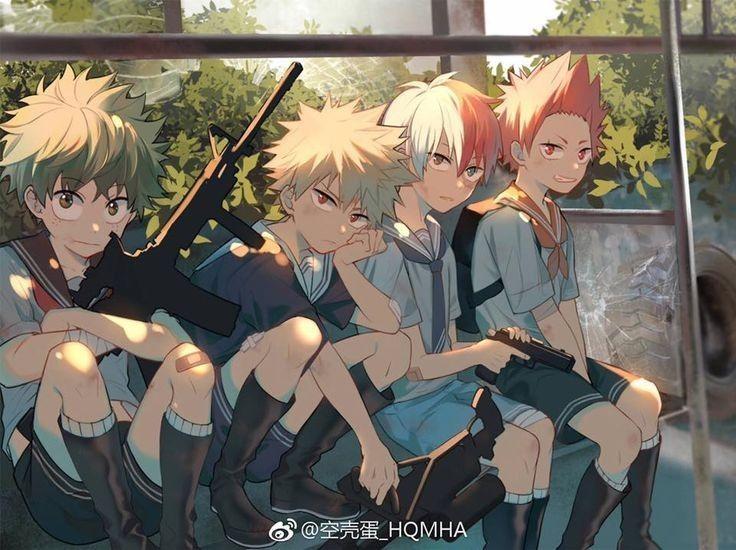 Midoriya Izuku Bakugou Katsuki Todoroki Shouto Kirishima Eijirou My Hero My Hero Academia Manga Hero Wallpaper