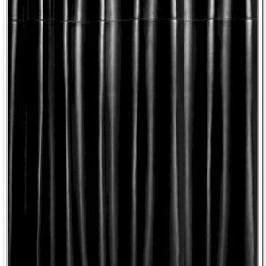 Black Leather Shower Curtain