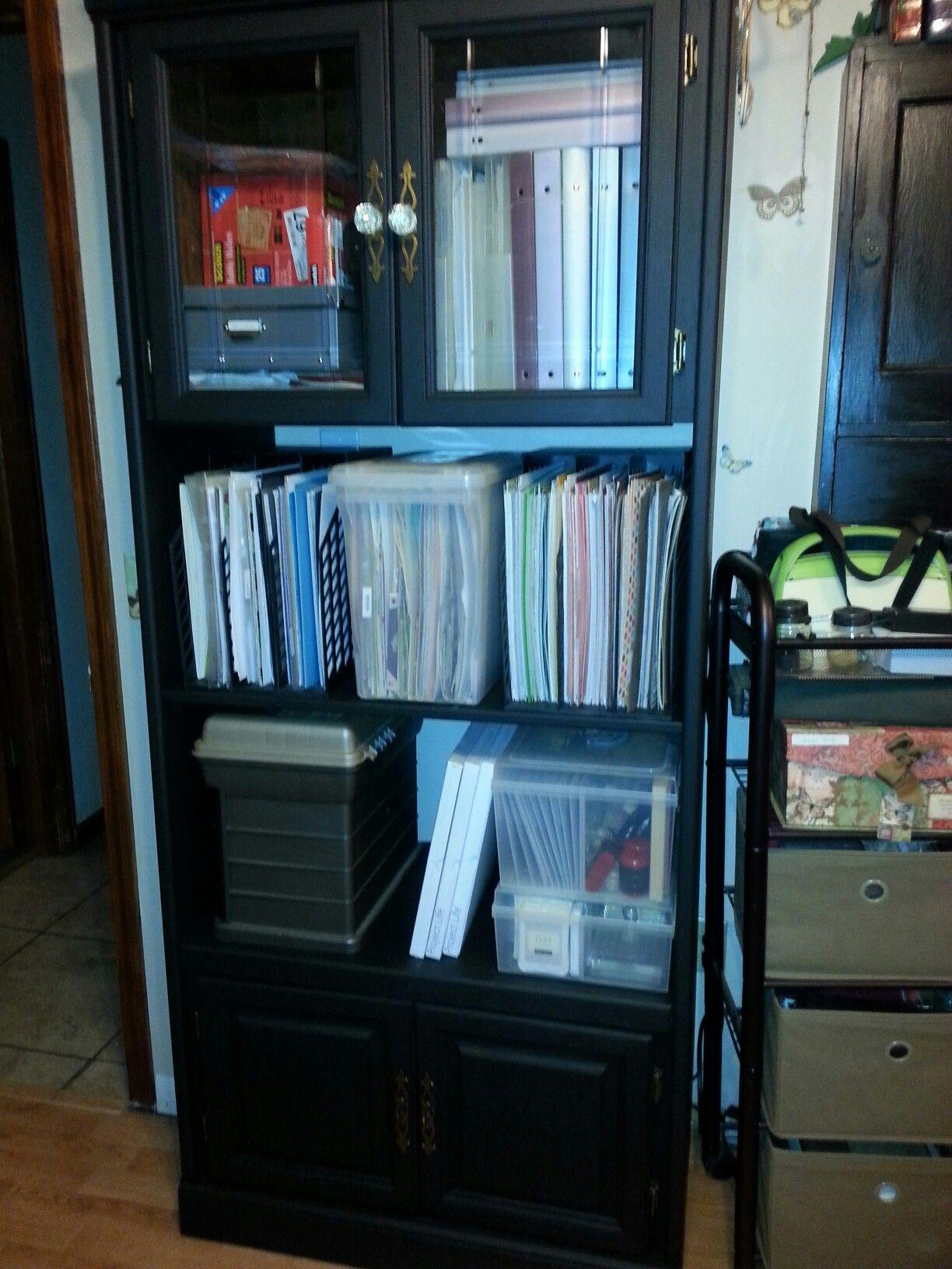 My craft studio paper storage☆°•