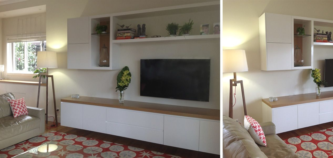 White Wooden Media and Display Unit | entertainment centre ...