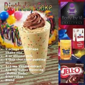 birthday cake body by vi shake recipe Food 3 Pinterest