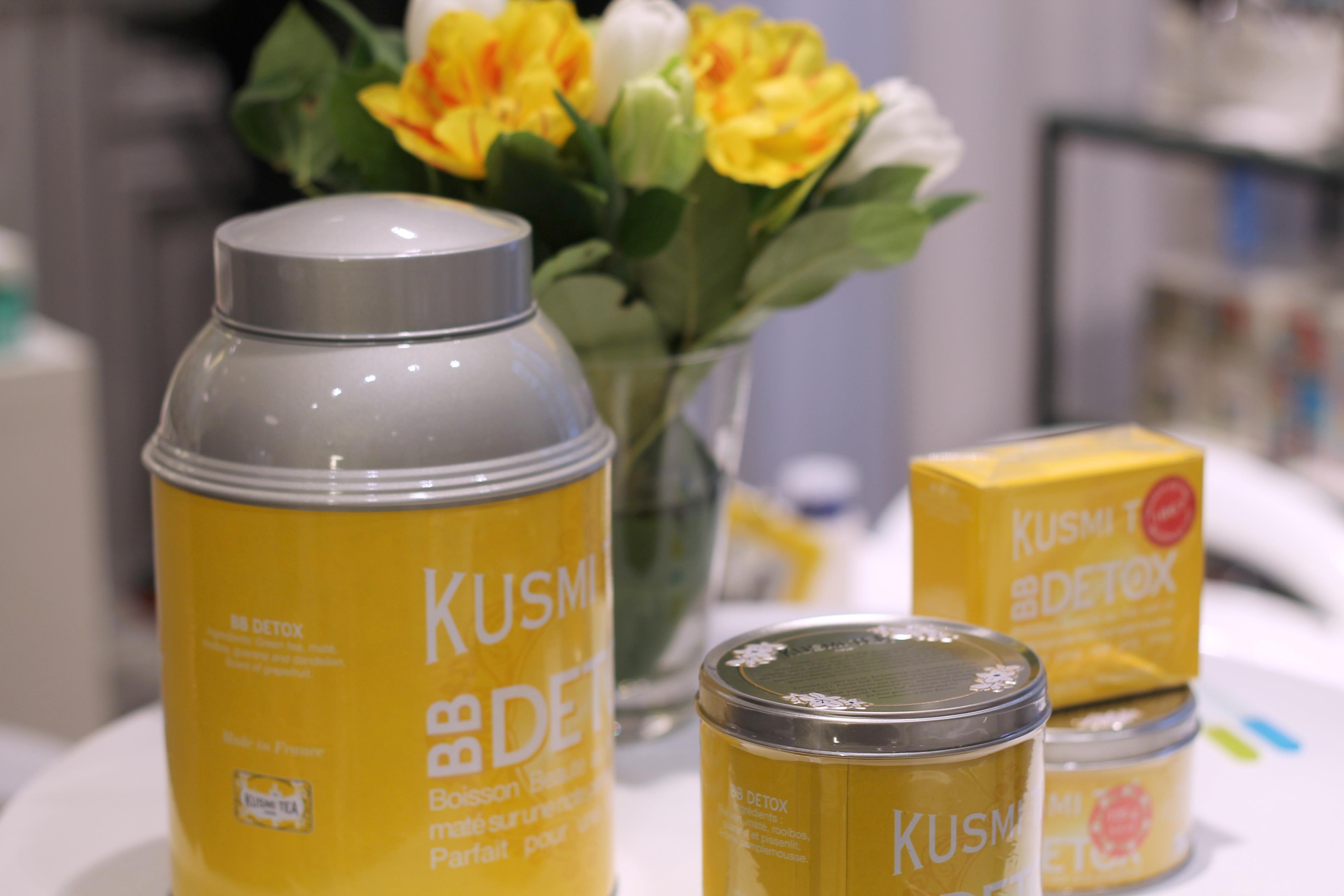 d couverte du nouveau kusmi tea bb detox au caf kousmichoff detox teas and tea time. Black Bedroom Furniture Sets. Home Design Ideas