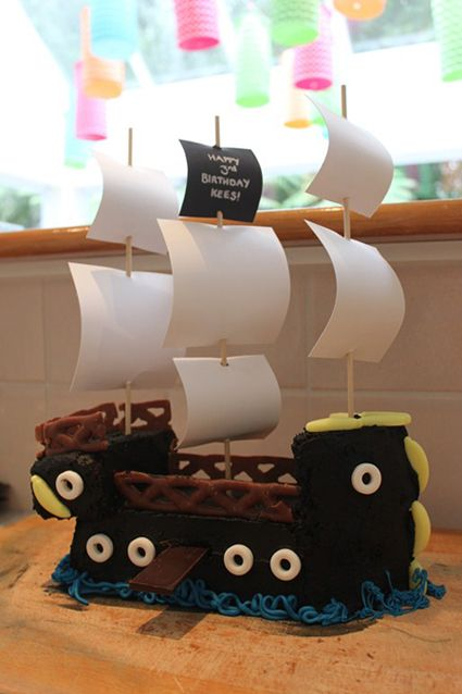 Tremendous Pirate Ship Cake From The Australian Womens Weekly Kids Personalised Birthday Cards Bromeletsinfo