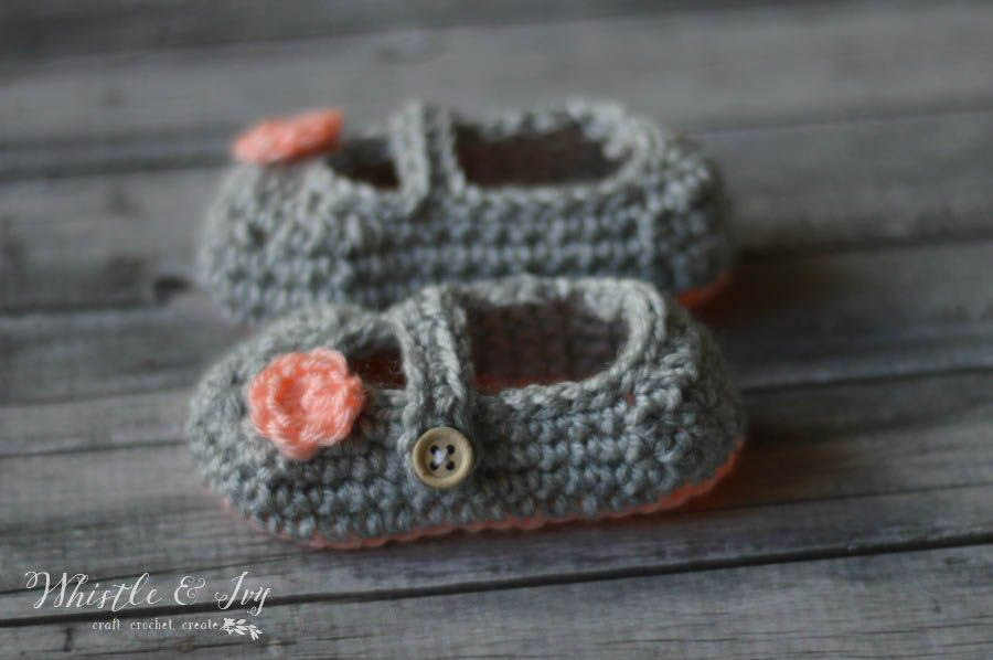 Two Toned Little Dot Mary Janes Free Crochet Mary Janes And Crochet