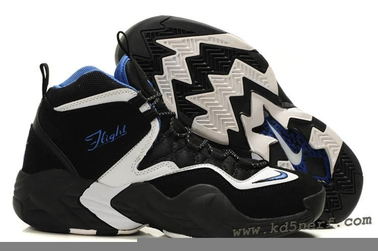 low priced 84f25 78ffc Nike Air GO LWP Black White Blue - Penny Hardaway Shoes