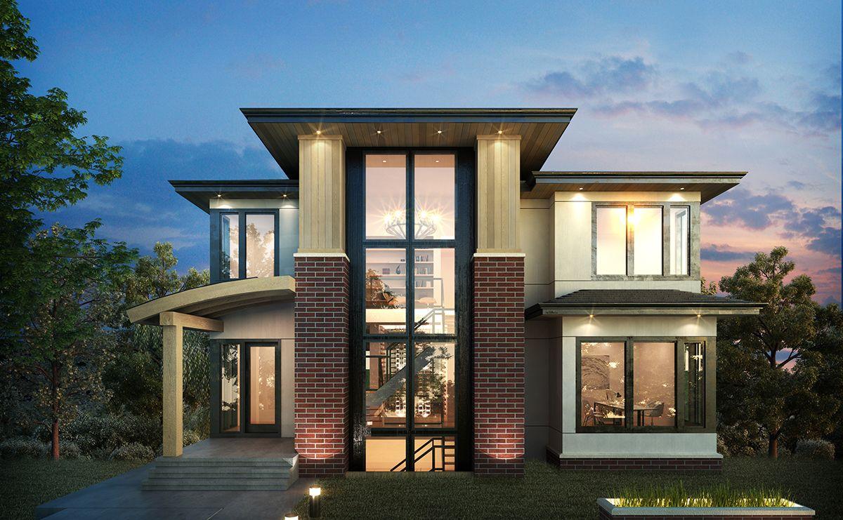 Exclusive 3 Level Modern Home Plan 64100cal Modern Northwest