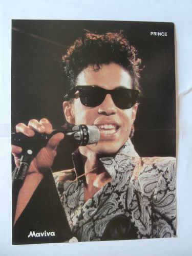 Prince Don Johnson Mini Poster from Greek Magazines clippings 1970s 1990s | eBay