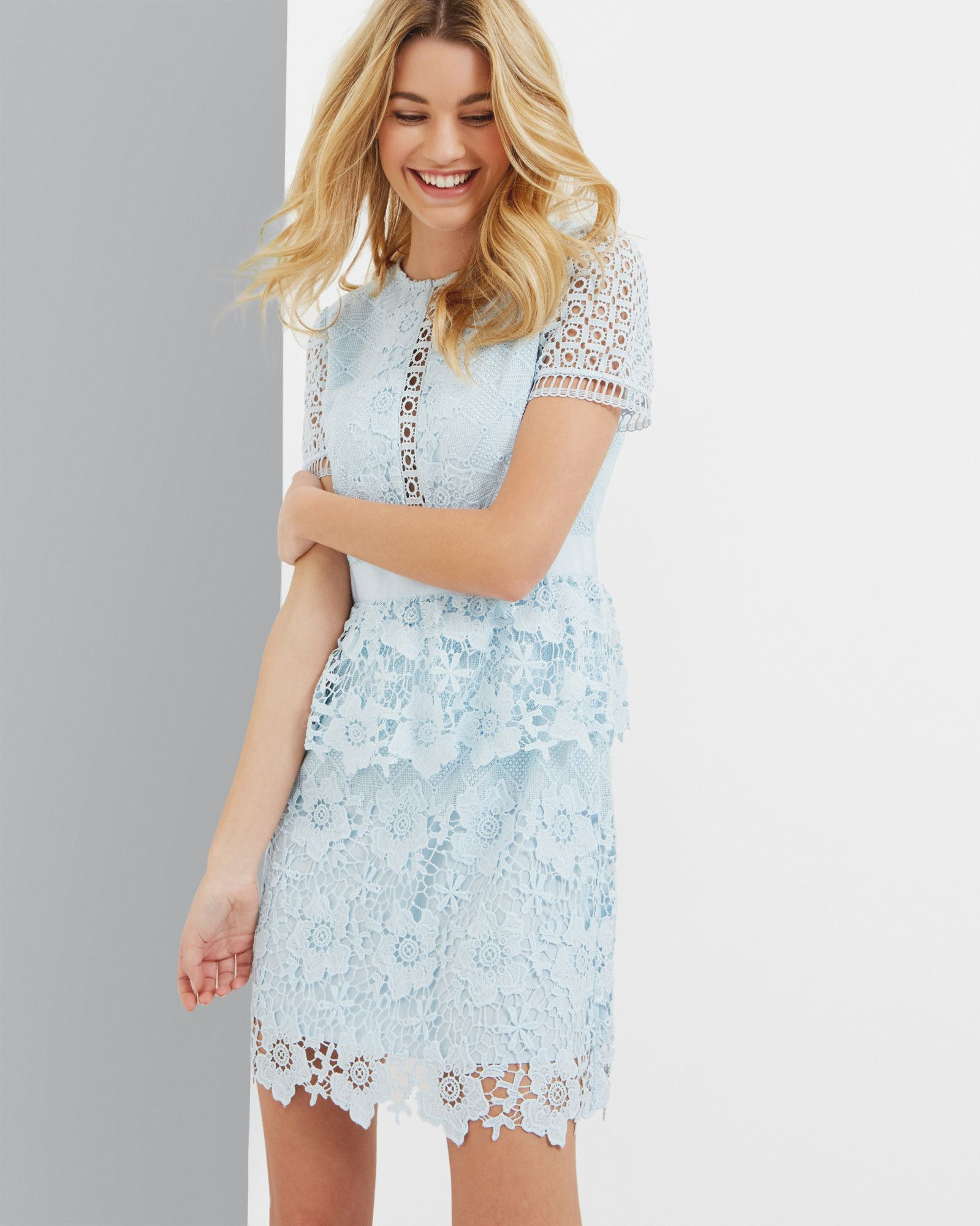 98b2a862cd7d0e WedWithTed  TedBaker  Contest - Layered lace dress - Baby Blue ...