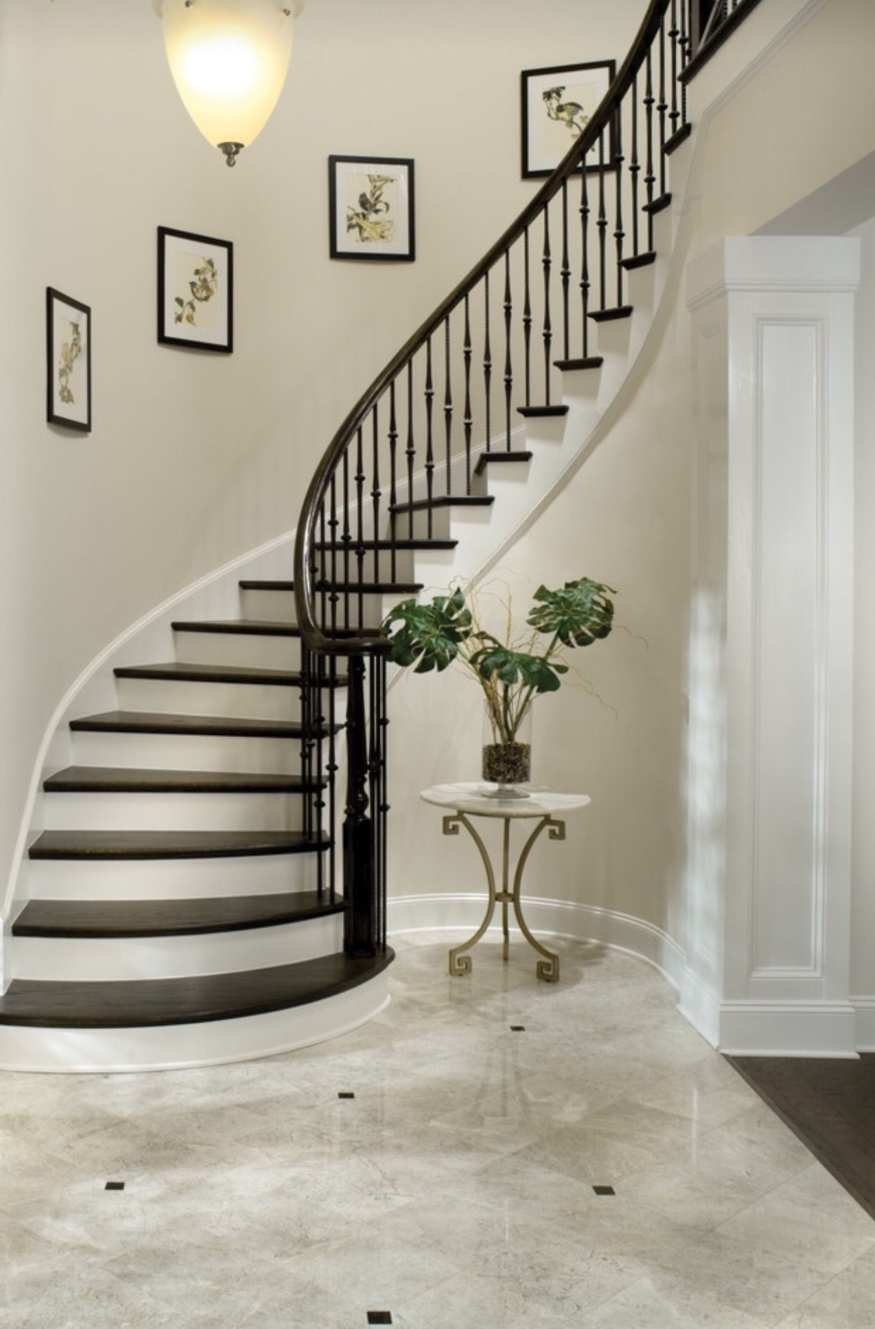 Best Rod Iron Spindles … Foyer Staircase Traditional 640 x 480