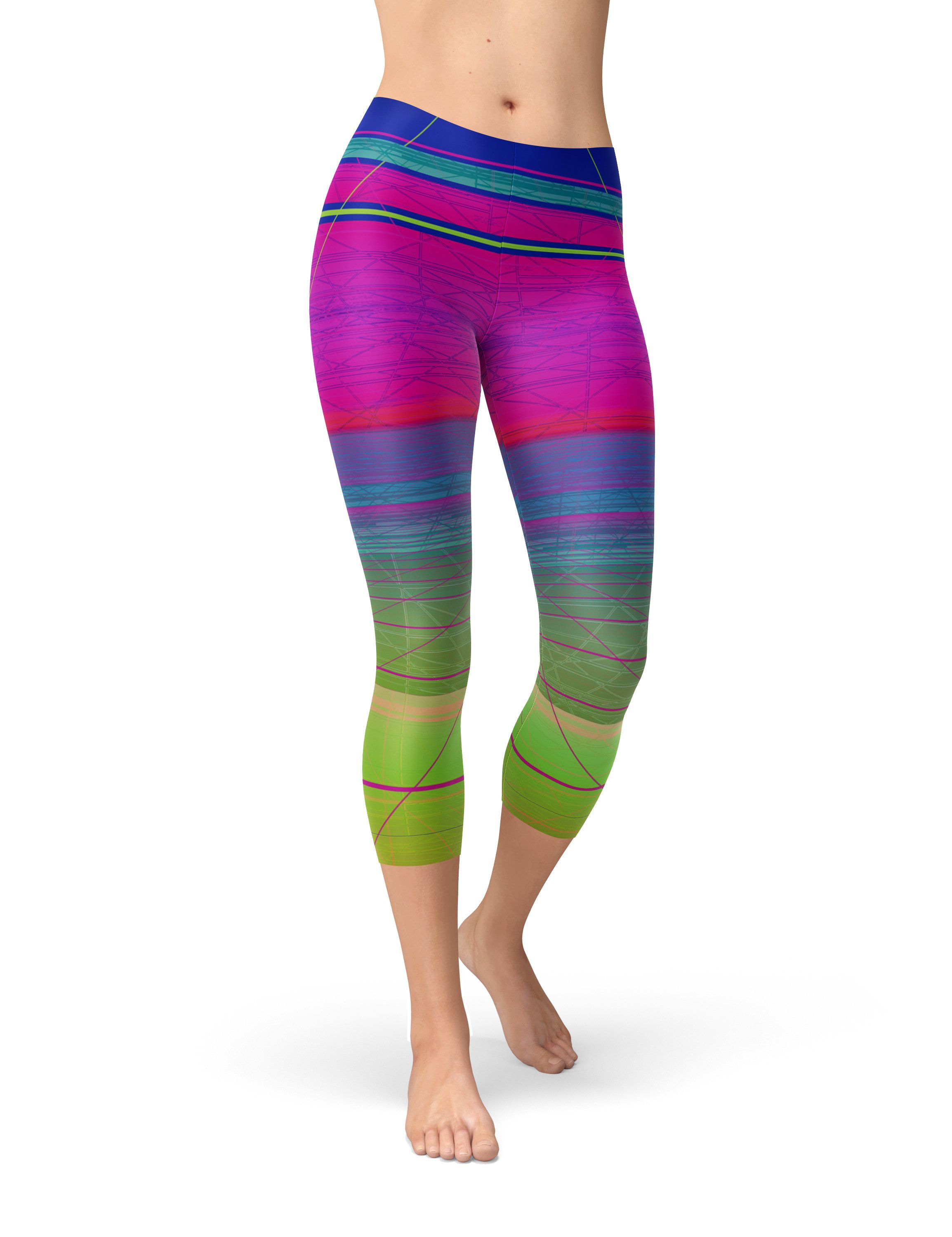 8e6eb139be7175 The design on these workout leggings is printed on a silky soft, stretch  fabric using water-based and Eco-friendly inks.