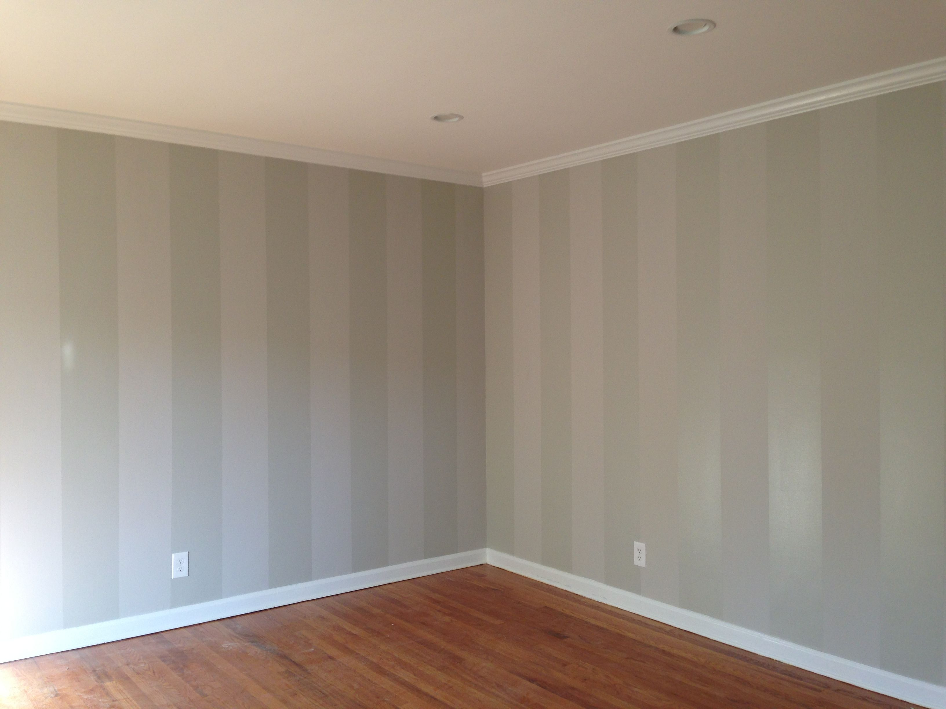 Casa De Rao Pic Of Our Living Room Accent Wall Gloss On Matte Painted Stripes In Bm Seattle Mis Accent Walls In Living Room Striped Accent Walls Paint Sheen