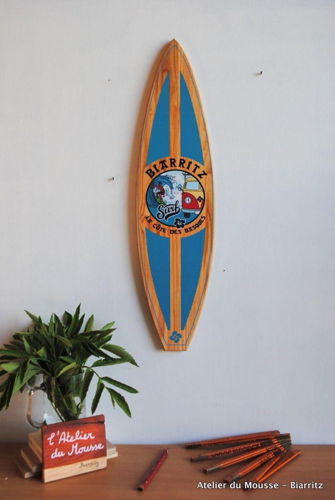 planche de surf de d coration en bois mod le22 turquoise mes cr ations en collaboration avec l. Black Bedroom Furniture Sets. Home Design Ideas