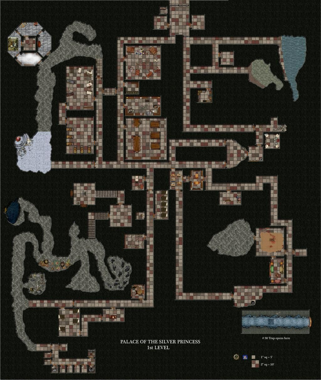 Palace Of The Silver Princess Level 1 By Bogie Dj On Deviantart Kelly S Heroes Dungeon Maps Princess