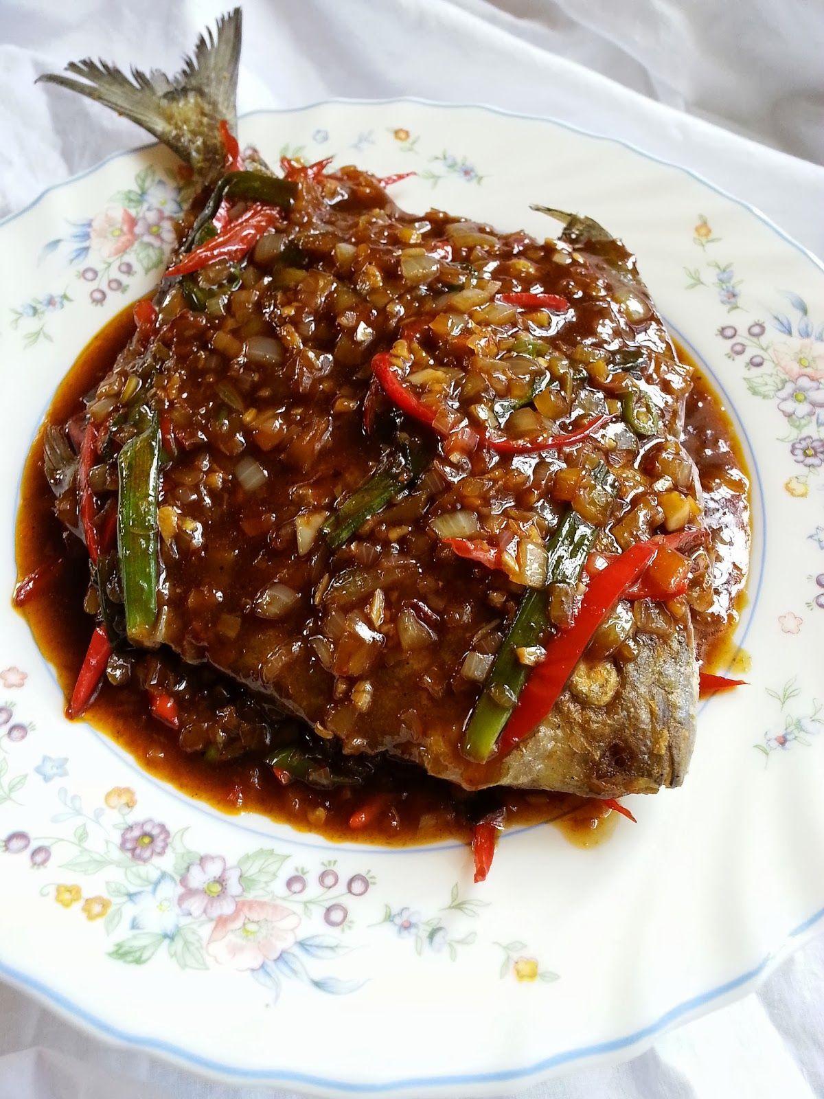 Bawal Masak Hitam Resep Ikan Ide Makanan Makanan Dan Minuman