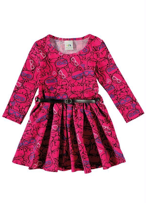 d40f639e6538 Vestido Infantil Rosa Malwee Kids - Posthaus | roupa de criança ...